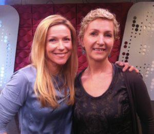 Elin og Helene i Puls, sammen etter studioinnslaget i mars 2013